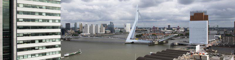 Rotterdam vanaf de Kop van Zuid