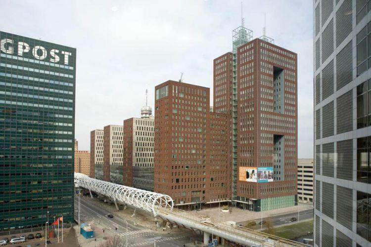 Den Haag, kantorencomplex de Prinsenhof. Architect RijnbouttOpdracht Inzicht