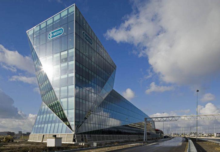 Utrecht, kantoorgebouw Mediq. TIB Architecten.Opdracht Schüco Nederland BV