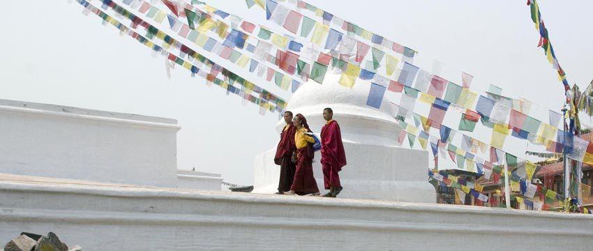 Nepal, Kathmandutempel van Bodhnath